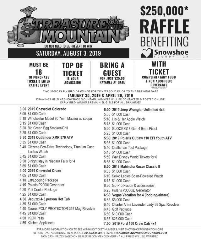 Treasure on the Mountain | Raffle Party WV | Download Raffle
